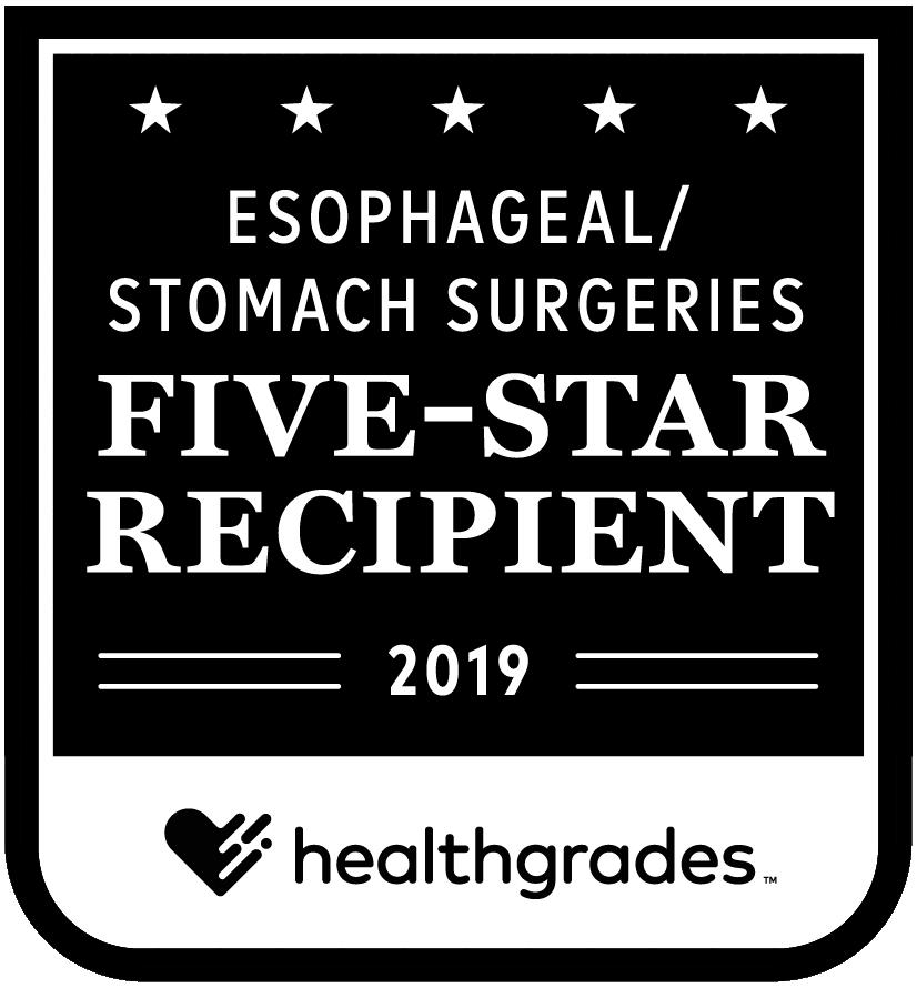 Esophageal Stomach Surgeries: 5-Star Recipient 2019