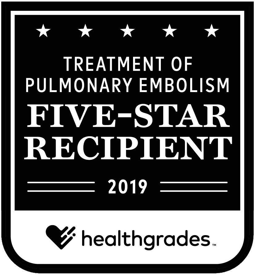 Pulmonary Embolism: 5-Star Recipient 2019