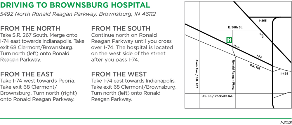 Driving Directions to Brownsburg Hospital