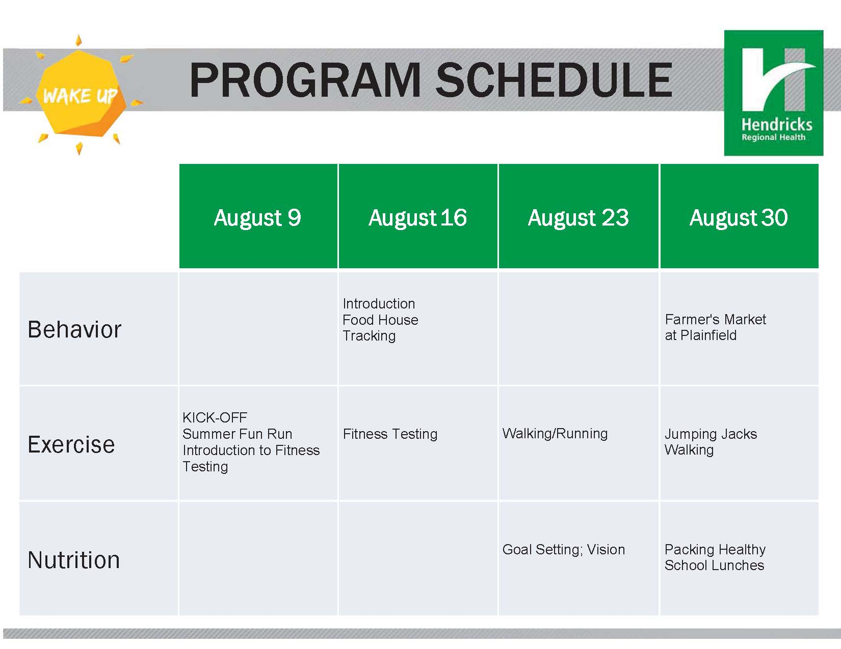 Indiana hendricks county lizton - Click Here To Download The August Wake Up Schedule
